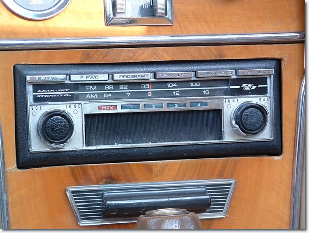 The original radio for the 1971 Blackhawk was a 'Lear Jet' AM/FM 8-track, this was the best in car audio money could buy at the time.